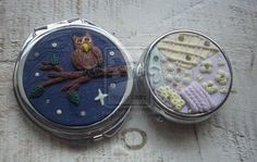 Compact mirror and  pill box - polymer clay by BerryMouse.deviantart.com on @DeviantArt