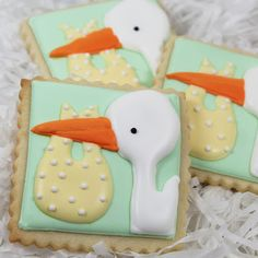 Stork cookies for pregnancy announcements sent out before we miscarried.