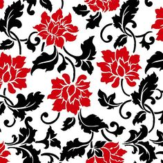 Valero Floral Vine, Cotton, Cream, Wide, Fabric By The Yard