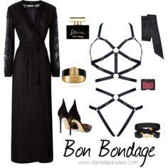 Bondage Style Lingerie, Polyvore, Image, Style, Fashion, Swag, Moda, Fashion Styles, Underwear