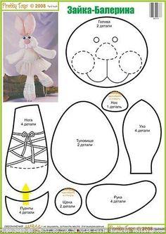 .bunny rabbit doll felt pattern ideas design craft diy