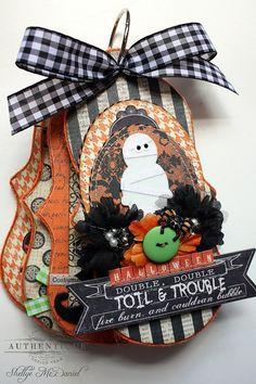 Halloween--labeur et TROULBE-rouleau en forme de Mini album Album/Journal