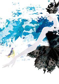 2012.11 「踊る女たち〜dancer in the forest」展示illustration
