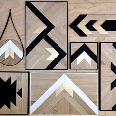In case you need a jumpstart on #holidaygifting, follow our sister IG @designmilkeveryday where we find cool, affordable #moderndesign that you can get for friends and family (or yourself ), like these #geometric #woodart by @brianna_land.
