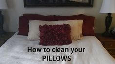 Pillows need to be washed twice a year because of mites, dirt and sweat! Learn how to clean your PILLOWS here. Lots of other tips, too!