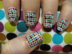 """""""it's officially gone dotty..."""" nail art."""