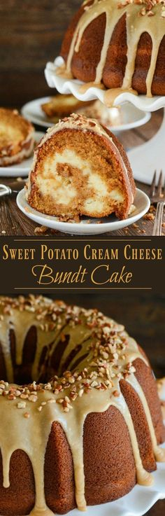 Sweet Potato Cream Cheese Bundt Cake with Praline Frosting! Looking for an impressive cake you can serve for dessert or breakfast? This rich, moist… | Pinterest