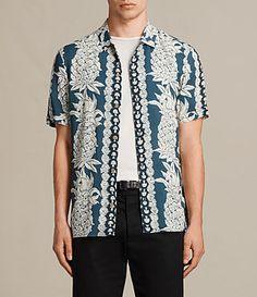 Mens Ananas Short Sleeve Shirt (NORDIC BLUE) - Image 1