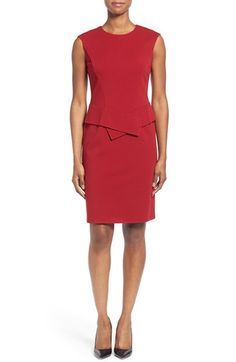 Lafayette 148 New York Punto Milano Sleeveless Sash Detail Sheath Dress (Regular & Petite) available at #Nordstrom Again, I like the simple lines.  Not sure if this is a good option for the Kentucky Derby.