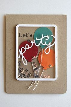 Let's Party Shaker Card by Heather Nichols for Papertrey Ink (January 2015)