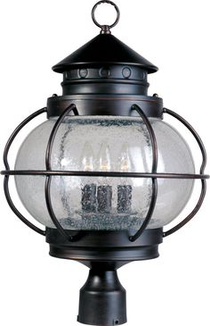 View the Maxim MX 30501 Portsmouth 3 Light Outdoor Post Light at LightingDirect.com.
