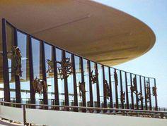 Worldport Zodiac Sculptures, JFK by Milton Hebald. #Pan Am #Worldport #architecture #sculpture #design #panam #aviation #history