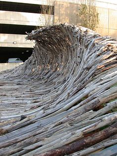 Driftwood wave sculpture by Shane Blackbourn