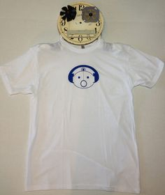 This shirt is one of our most popular Robots.  Robot Sam is pressed on a 50/50 (cotton and polyester) America Apparel t-shirt.  All of our products are Made in America and Designed in NY.
