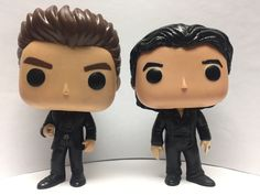 Vinyl Action Figure - Ian Somerhalder as Damon Salvatore and Paul Wesley as Stefan Salvatore from the television series The Vampire Diaries. Vampire Diaries Stefan, Vampire Diaries The Originals, Pop Action Figures, Vinyl Figures, Funko Pop Anime, Funko Pop Dolls, Custom Funko Pop, Funk Pop, Pop Characters