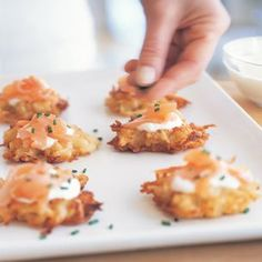 Potato Pancakes with Smoked Salmon