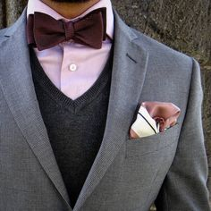 """mydapperself: """" Details of this bow tie look. Tip for those considering wearing bow ties: they should NEVER be pretied and your self-tied bow tie should never look perfect. Bow ties demand personality! ☝ #edruiz #menswear #bowtie #bowtiesarecool..."""