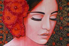 Kleurrijk schilderij Flamenco Mood