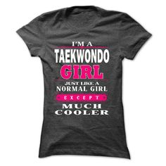 Taekwondo girl Cool Taekwondo T Shirt (*_*)