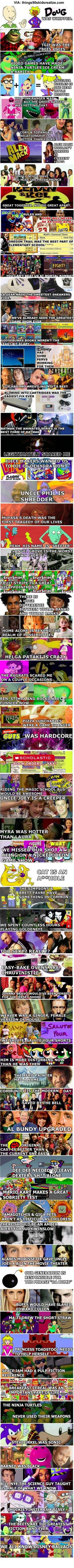 Ahh being a 90's kids was 'Da bomb'!!!!