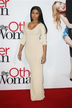 """Nicki Minaj arrives at """"The Other Woman"""" premiere in Los Angeles on April 22, 2014."""