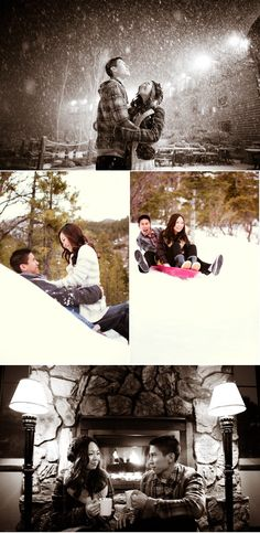 Love this fun winter save the date