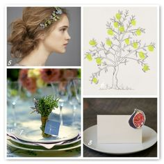 I like image 7 - herbs as a favor/placeholder - you love food, it's a great wedding tradition to have nicely scented things and it is sort of picnic themed