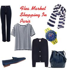 The Marché aux Puces in Paris by tishjett on Polyvore featuring Uniqlo, Jardin des Orangers, NYDJ, Santoni and Gucci