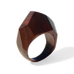 GEM - Palissander wood Ring OOAK