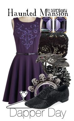 """Haunted Mansion"" by leslieakay ❤ liked on Polyvore featuring House of Lavande, KOTUR, NLY Accessories, Maria Nilsdotter, Gathering Eye, Disney, VC Signature and disney"