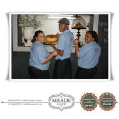 The Meade Cafe team is very proud of their new uniforms and looking forward to being of service to you, our clients Restaurant, Coffee, News, Coffee Cafe, Diner Restaurant, Kaffee, Supper Club, Dining Room, Dining