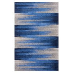 Vibrant blues in a blur motion design make this Sporty Ombre Rug a bold accent for your room. Recycled Rugs, Led Shop Lights, Synthetic Rugs, Rug Texture, Pottery Barn Teen, Motion Design, Carpet Runner, Woven Rug, Rugs On Carpet