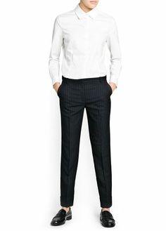 Pantalón traje raya diplomática