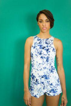 Isabelle Blue Skort Romper — Women's Clothing - Westwood Boutique - MODLOOK 29