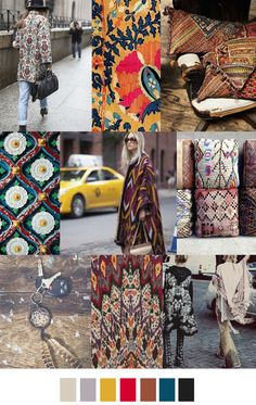 F/W 2017-18 pattern & colors trends: URBAN GYPSY