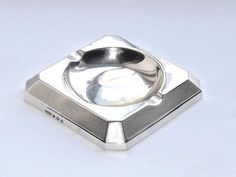 VINTAGE 1940s SOLID SILVER STERLING ASH TRAY DISH HALLMARKED BIRMINGHAM 1948 #ThomasDucrowSons