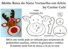 Felt reindeer free pattern - Cartamodello renna in feltro ...