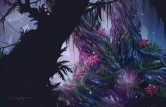 Mystica - Speed painting inspired by the Wormworld Saga by Daniel Lieske. www.cassiopeiaart.com