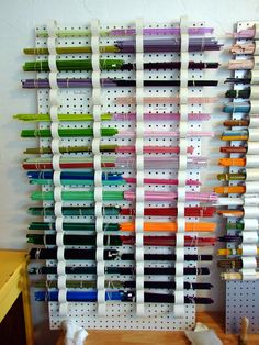 Corinabeads how to make a glass shelf with pvc pipe and a pegboard