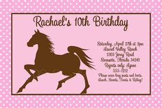 Vintage Horse Birthday Invitations And Party Decorations By CutiePatootieCreations Cowgirl