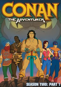 """Other recent home video releases include """"Timmy Time: Go Kart Timmy"""" and """"The Fabric of the Cosmos. Conan Der Barbar, Robert E Howard, Timmy Time, Conan The Barbarian, Saturday Morning Cartoons, Sword And Sorcery, Red Sonja, 90s Cartoons, Classic Cartoons"""