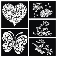 eb86d0f3295b2 Find More Body Paint Information about 1pcs Butterfly Heart Dragon Bird  Large Airbrush Tattoo Stencil For