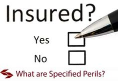 What are Specified Perils on an Insurance Policy?