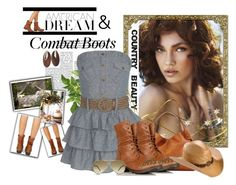 """How to Style Combat Boots - Country Style"" by katrina-byrd-jones ❤ liked on Polyvore featuring Shabby Chic, Dooney & Bourke, Blazin Roxx, GUESS and country"