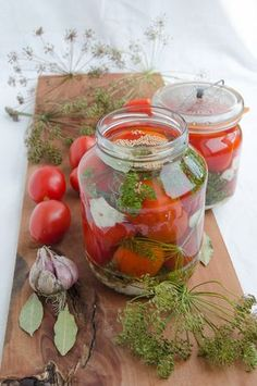 kiszone pomidory Canning Recipes, Preserves, Pickles, Salads, Food And Drink, Vegetarian, Homemade, Snacks, Vegan