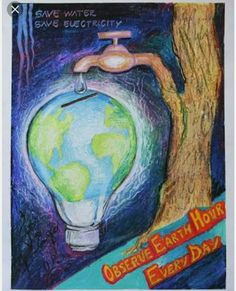 Environment Drawing Ideas, World Environment Day Posters, Drawings With Meaning, Art Drawings For Kids, Music Drawings, Save Water Poster Drawing, Save Earth Drawing, Earth Drawings, Nature Sketch