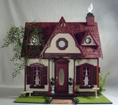 """Assembled version of the """"Orchid"""" Dollhouse Kit I'm looking to buy. The color combination is really unusual and very intriguing!"""