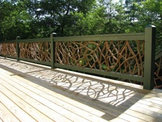 Mountain laurel deck railing from NC