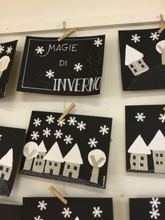 Winter magic - Valentina Gueci - - Magie d'inverno Magie + winter Winter Activities For Kids, Winter Crafts For Kids, Winter Kids, Winter Art, Christmas Activities, Winter Theme, Winter Christmas, Art For Kids, Toddler Crafts
