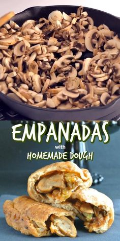 Empanadas with Sofrito and Mushrooms uses an easy homemade dough recipe that is filled with sauteed mushroom, sofrito, and spices. A vegetarian meal for everyone to love. You will be in heaven. #empanadasdough #easyempanadas #Vegetarianempanadas #veganempanadas #empanadasrecipe #empanadasvideos